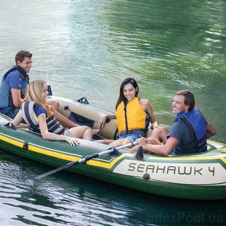 Надувная лодка  с алюминиевыми веслами и насосом
