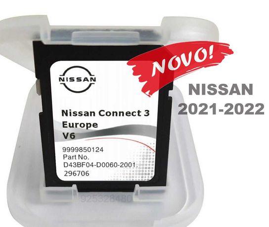 NIssan cartao GPS Connect-3 -V6 - Europa 2022 Juke Qashquai ...
