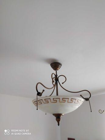 Lampa wisząca z greckim wzorem