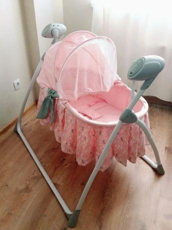 Электронная качель кроватка для младенцев Carrello с пультом от 0 лет