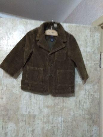 Пиджак детский вельветовый