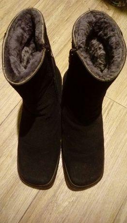 Замшевые сапоги ботинки 39р.
