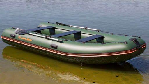 Колибри КМ-400ДСЛ надувная килевая лодка + алюминиевый пайол