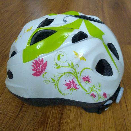 Kask rowerowy dziewczęcy