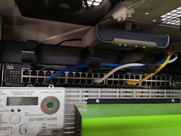 Swits 48 portas giga com entrada em fibra