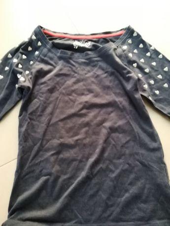 Bluzka dla dziewczynki nowa metalowe serduszka 5 10 15
