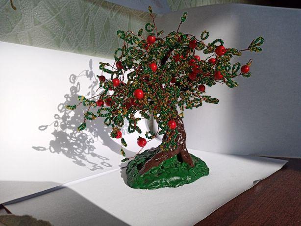 Дерево з бісеру 'Яблоня'