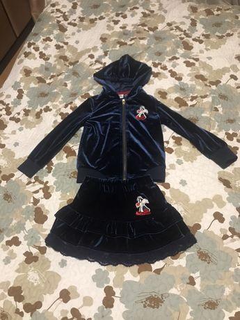 Комплект нарядный стильный костюм кофта юбка Original Marines
