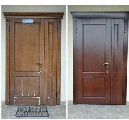 Ремонт,реставрация,металлических дверей, замена замков, мдф