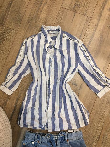 Рубашка в полоску хб