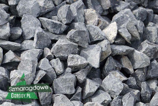 Grys bazaltowy 16-22mm GRAFITOWY / czarny kamień ogrodowy TRANSPORT