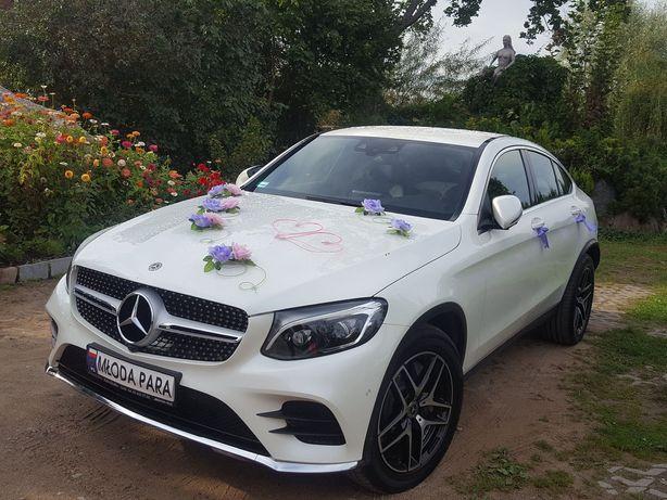 Samochód auto do ślubu wynajem MERCEDES BENZ GLC COUPÉ(biel diamentu)