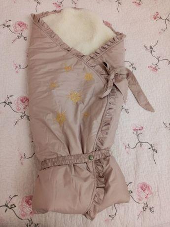 Зимний конверт-одеяло на овчине ТМ Модный карапуз