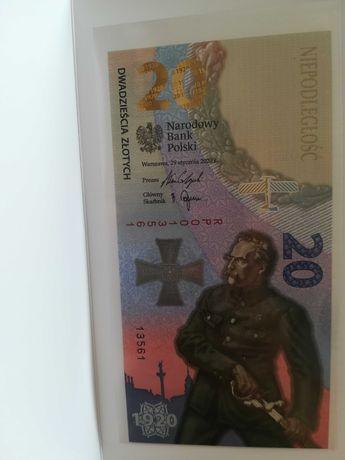 Banknot 20 zł Bitwa Warszawska 1920