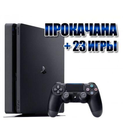PS4 Slim 1 Tb НОВАЯ + 23 Игры + Гарантия