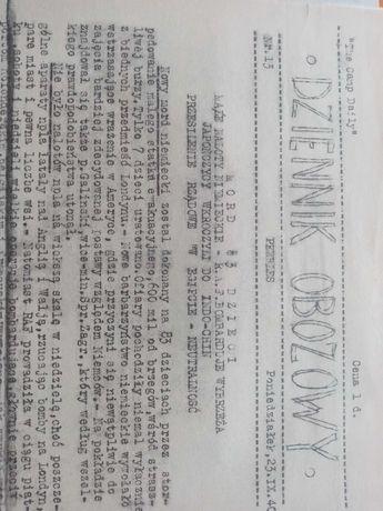 Reprint dziennika obozowego z 1940roku