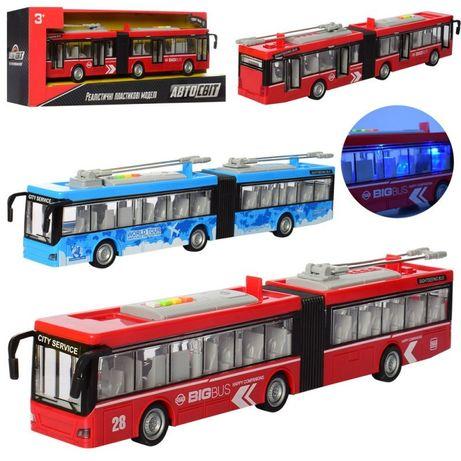 Іграшка тролейбус красивий подарунок своєму маленькому чаду