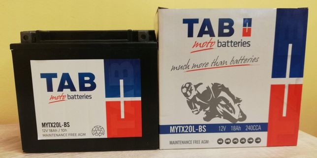 Akumulator motocyklowy Tab 12V/18Ah Ytx20l-bs
