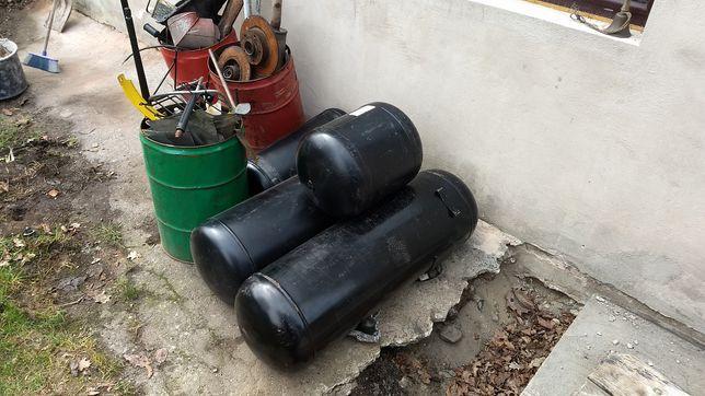 Zbiornik walcowy LPG, piaskarka, kompresor, grill