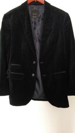 Мужской велюровый пиджак ZARA