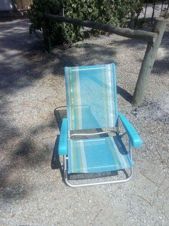 Cadeiras de praia em aluminio excelentes