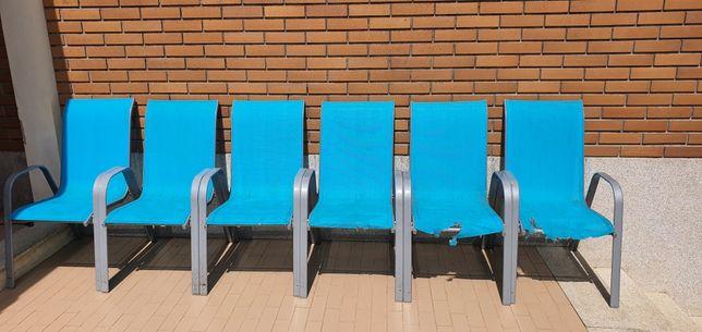6 Cadeiras exterior