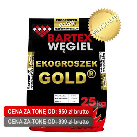 Ekogroszek Bartex GOLD Węgiel pelet pellet Trak Garbatk drewno kominko