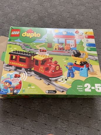 Лего дупло lego duplo железная дорога паровоз поезд станция