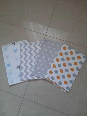 Kocyk ręcznik pieluszki flanelowe podkład zestaw dla noworodka