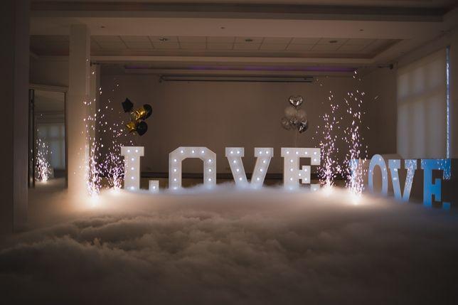 CIĘŻKI DYM  NAPISY LOVE                   Balony Hel CYFRY 100cm -35zł