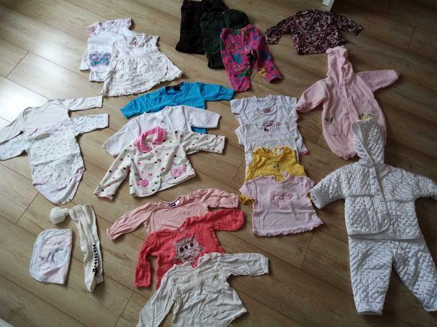 Zestaw ubrań dla dziewczynki 62 /68-74