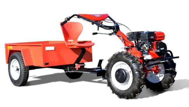 GLEBOGRYZARKA HECHT 7100 Traktorek jednosiowy z przyczepką Dzik