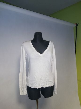 Sweterek Zara biały serek delikatny materiał 44, 46