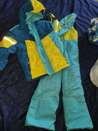 Kurtka spodnie narciarskie zimowe kombinezon 104