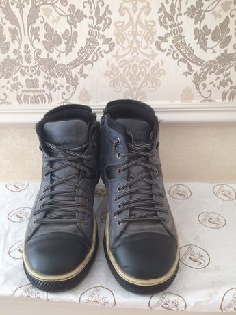 Весенние кожаные ботинки в стиле кедов!