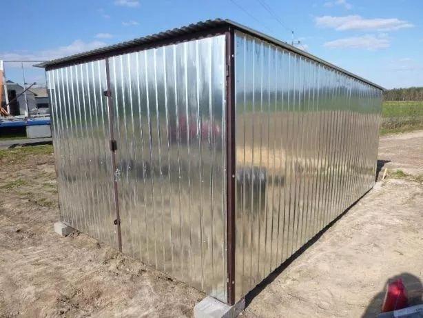 Garaż blaszany na budowę Blaszak Garaże blaszane Blaszaki PRODUCENT