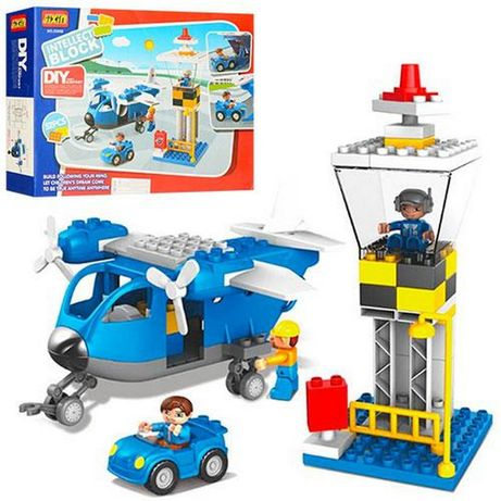 Конструктор Аэропорт аналог Лего,Lego Duplo 52 крупных дет.звук.свет