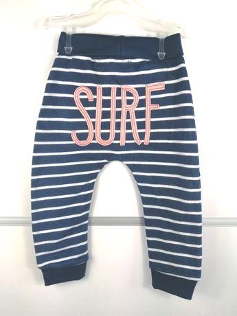 Spodnie chłopięce dresowe r. 80 nowe cool club Smyk