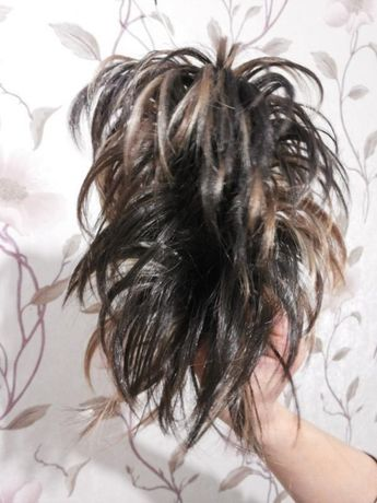 Локаны на заколке-крабе из искусственных волос эфект мелирования новый