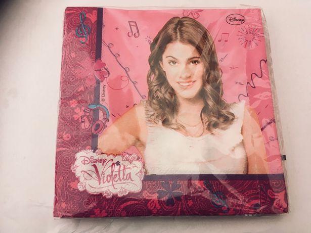 Nowe serwetki Violetta ( Disneya ) 20 sztuk, 33X33 cm