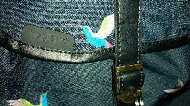 Рюкзак чорний колібрі унісекс
