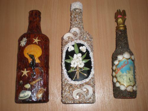 Бутылочки сувенирные.
