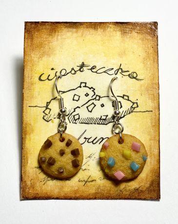 Kolczyki ciasteczka Handmade
