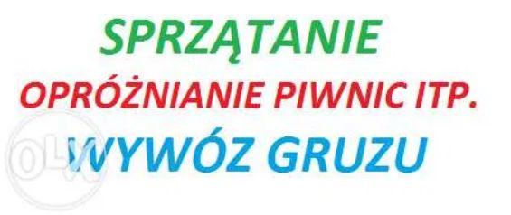 WYWÓZ gruzu Warszawa, Wywóz starych mebli Warszawa OPRÓŻNIANIE piwnic