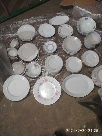Посуда,тарелки,стаканы,рюмки,банки