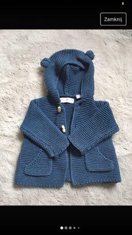 Zara sweterek 62 niebieski
