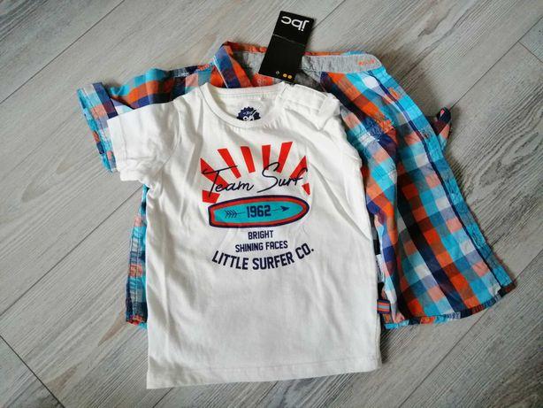 Nowa koszula i tshirt JBC r. 80 zestaw komplet bluzka
