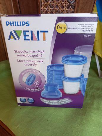 Контейнери для молока та їжі Avent + адаптер
