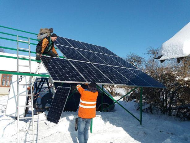 """Сонячні панелі. сонячні станції. """"Зелений тариф"""". Робота """"під ключ""""."""