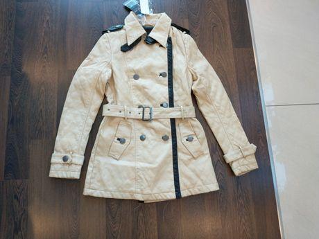 Płaszcz damski kurtka rozmiar S 36 z Eco skóry